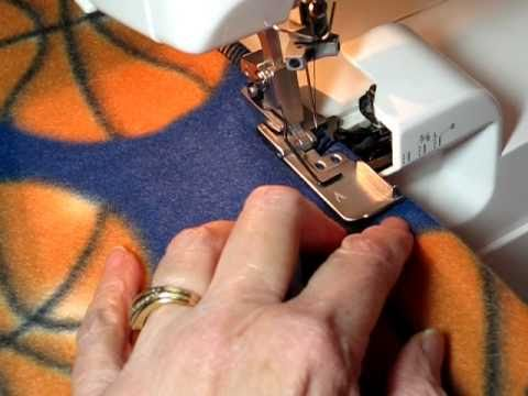 Sew/Serge A Professional Looking Fleece Blanket in 45 Minutes