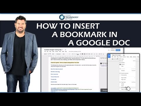 How to insert a bookmark in a Google Doc