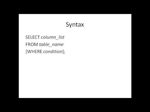 SQL Tutorial - 19: The WHERE Clause