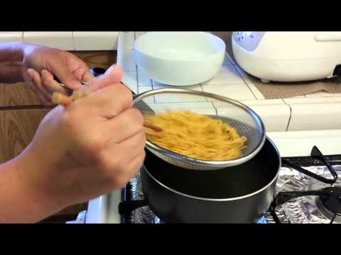 Cooking Chinese Egg Noodle