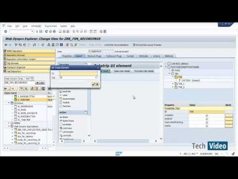 SAP ABAP  Web Dynpro -  Complete step by step scenariO (TABSTRIP)