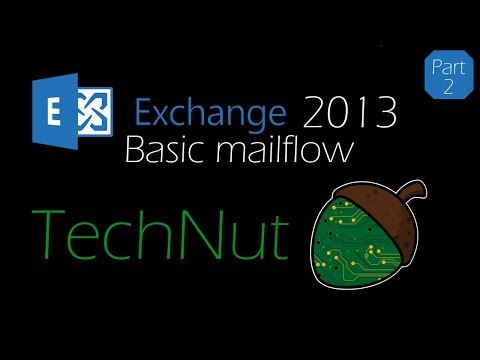 Exchange 2013 - Part 2: Basic mailflow