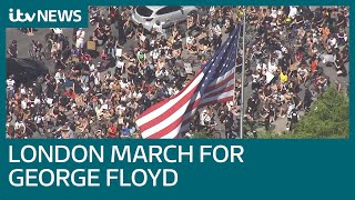 Hundreds join London protest against George Floyd death | ITV News