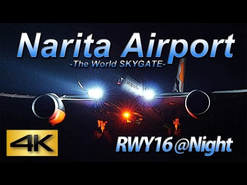 【4K】 1Hour Night-Time Spotting @Narita Rwy16L No2(October 9 2015) the Amazing Airport Spotting
