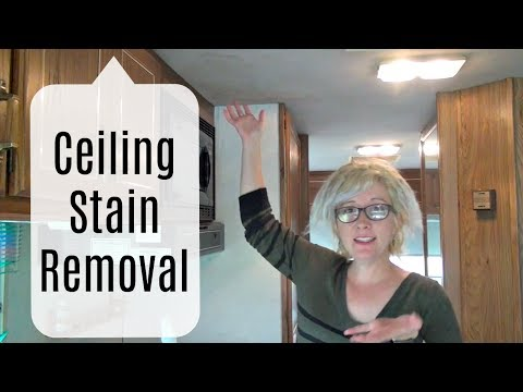 Ceiling Stain Removal | RV Log