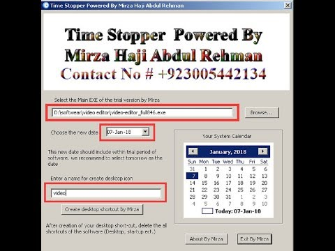 How To Use Any Trial Version Forever Free, stopwatch, time stop, never expired trial software  life