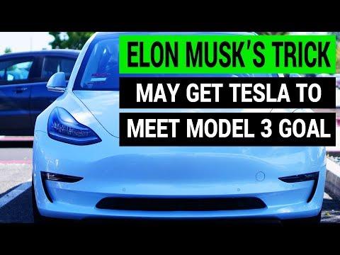 Elon Musk Has a Trick to Achieve Tesla Model 3 Production Goal