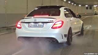 Supercars Go CRAZY in a Tunnel!! - Launches, Burnouts & Accelerations!