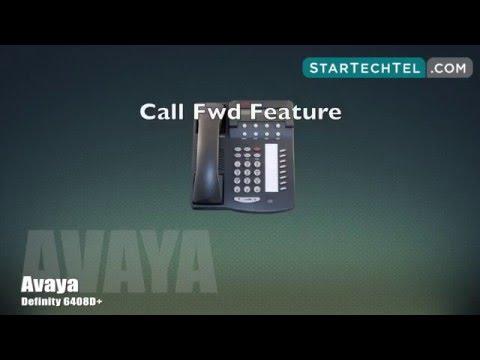 How To Use Call Forwarding On The Avaya Definity 6408D+ Phone