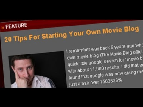 Getting Started In Online Film Talk On Your Own Blog, YouTube Channel, Podcast