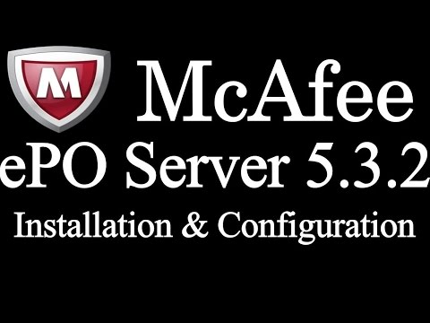 How to install Mcafee ePO 5.3.2