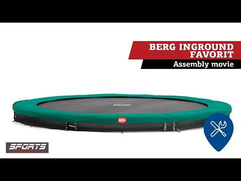 BERG InGround Favorit trampoline | assembly movie