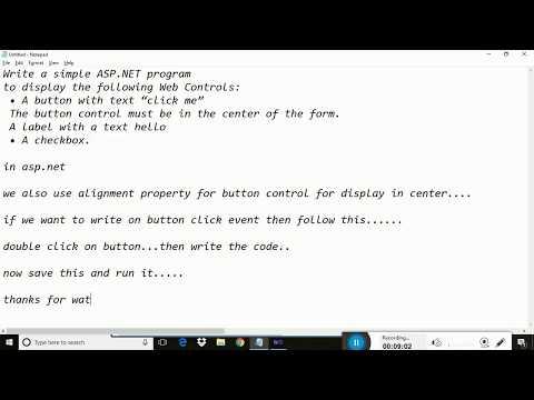 ASP.NET simple program of button click,a checkbox & label