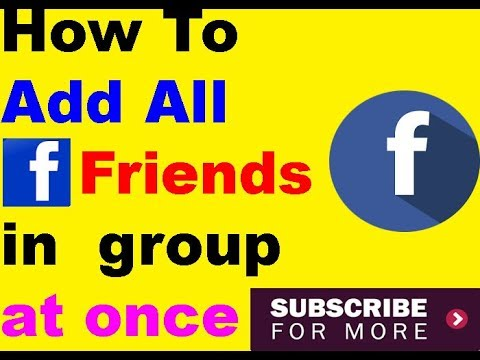 how to add all friends to facebook group in just one click  using mobile