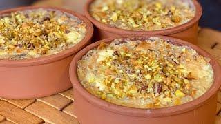 حلوى أم علي (الحلوى المصرية الراقية) بأبسط طريقة وأطيب طعم