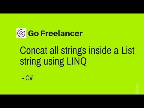 Concat all strings inside a List string using LINQ