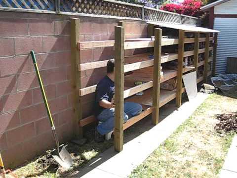 Time-lapse - log drying rack build