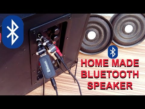 How to make Wireless Home theater system / Bluetooth connection to any speaker