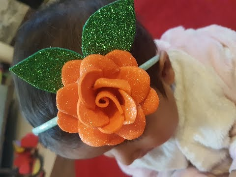 How to make hair band,Diy paper bow,baby headband tutorial