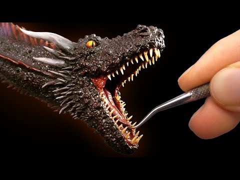 Sculpting Drogon from Game of Thrones