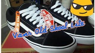 e5ffe578d0 Vans Old Skool Lite (suede canvas) Black   White UNBOXING 2018