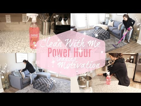 CLEAN WITH ME 2017 // POWER HOUR CLEANING MOTIVATION