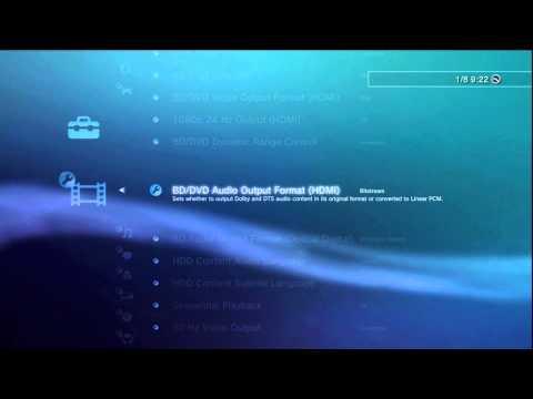 ONKYO AVR AV Home Cinema Receiver - OSD Setup of PS3 (old FAT Version)