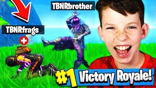 MY 12 YEAR OLD BROTHER CARRIED ME TO A WIN?! Fortnite: Battle Royale