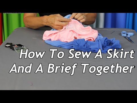 How To Sew A Skirt And A Brief Together