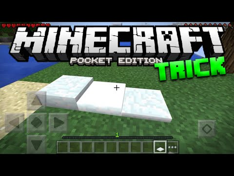 How To Get Snow Layers in Survival for Minecraft PE - MCPE Top Snow Trick (Pocket Edition)