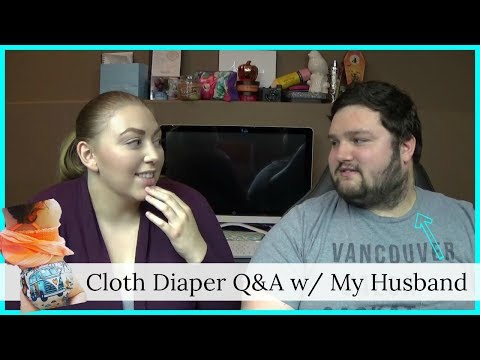CLOTH DIAPER Q&A WITH MY HUSBAND | HOW DID I CONVINCE HIM? CAN HE NAME DIFFERENT DIAPERS?