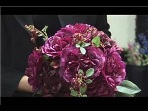 Floral Arrangements : Make Bridal Bouquet out of Silk Flowers