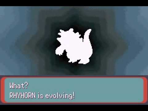 Pokemon Evolution Rhyhorn and Rhydon