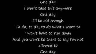One Day ~ Simple Plan Lyrics