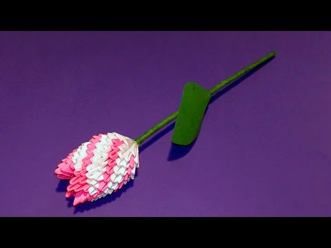 3D origami flower tulip tutorial (Gifts for Mother's Day)