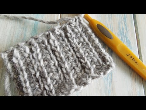 How To: Crochet looks like knitting with half double crochet in rows / Camel Stitch