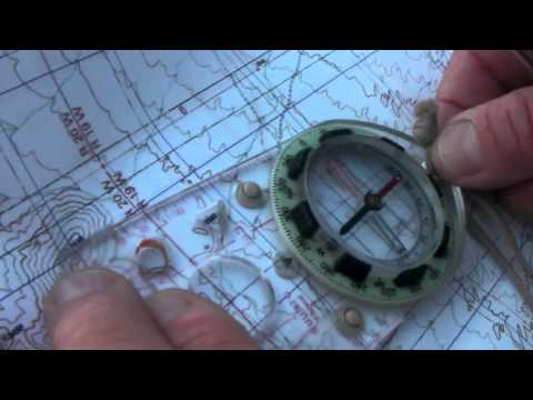 Map & Compass - Take a Bearing and Plot to Map