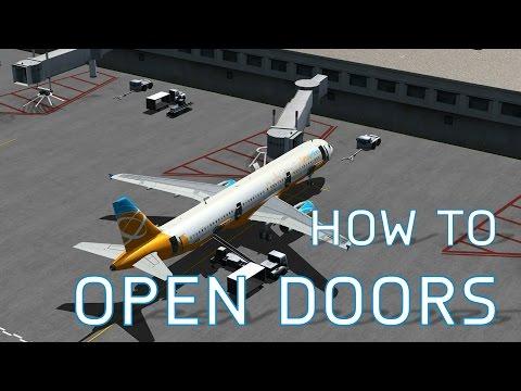 FSX How to Open Doors, Cargo Doors + Jetways, Pushbacks, Luggage Ramps & More
