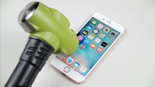 Rose Gold iPhone 6S Hammer & Knife Test!