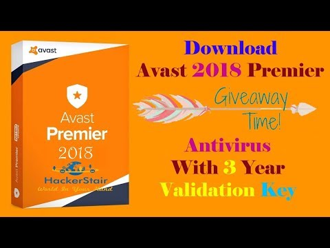 Download Avast Premier 2018 Antivirus Full Version With 3 Years Validation Key Till 2021