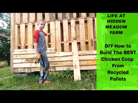 DIY - How to Build  The Best Chicken Coop from Recycled Pallets (part 1)