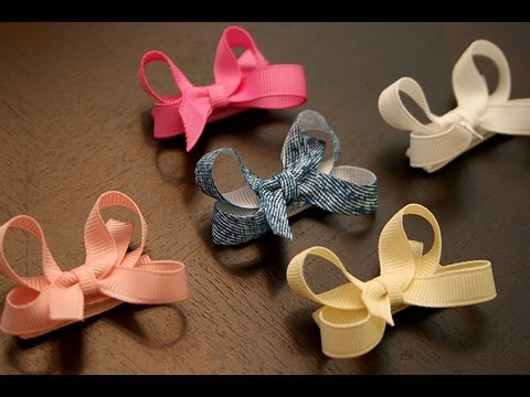 How to make infant/baby hair bows that stay in the hair (velcro bow tutorial)