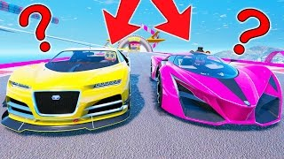 WITHERED FREDDY AND CHICA RACE SUPERCARS!! WHO WILL WIN? (GTA 5 Mods For Kids FNAF Funny Moments)