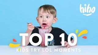 Top 10 Funniest Kids Try Moments! 😂😂😂   Kids Try   HiHo Kids