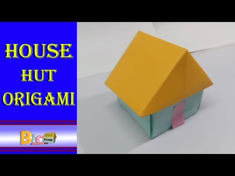 How To Make A Paper 3d House hut origami