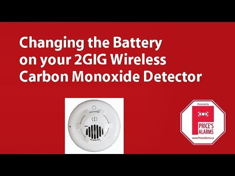 2GIG CO3-345 Carbon Monoxide Detector Battery Replacement