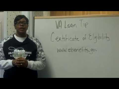VA Loan Tip | Certificate Of Eligibility