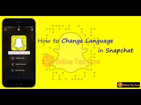 How to Change Snapchat Language