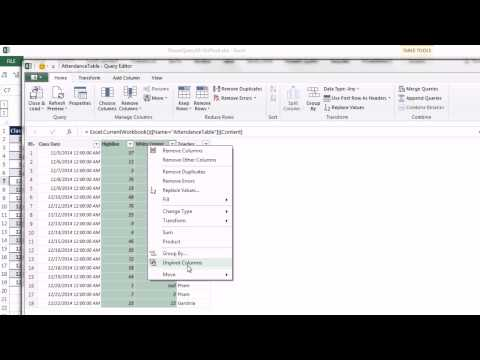 Excel Power Query #10: UnPivot Feature to Create Proper Data Sets (2 Examples)