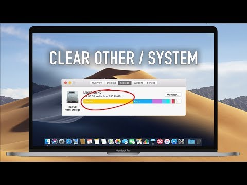 How to Clear System Storage on MacOS High Sierra - (Other Space)